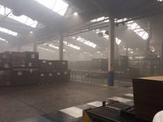 Sprinkler save Derbyshire packaging factory